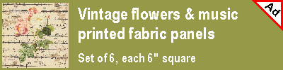 Vintage-inspired fabric panels