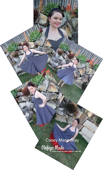 Casey Marie Bray Rockabilly Halter Strap Dress