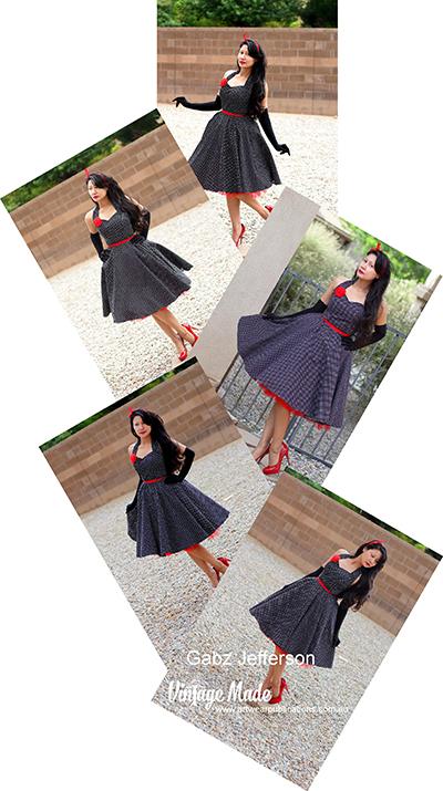 Gabz Jefferson Rockabilly Halter Strap Dress