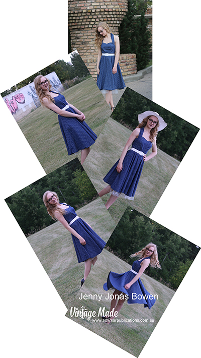 Jenny Jonas Bowen Rockabilly Halter Strap Dress