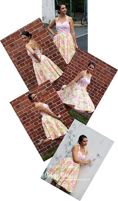 Kiran Grewal Rockabilly Halter Strap Dress