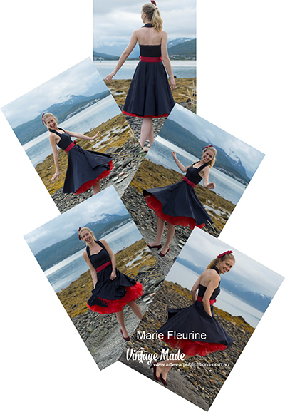 Marie Fleurine Rockabilly Halter Strap Dress