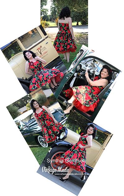 Synthia Gerritson Rockabilly Halter Strap Dress