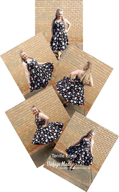 Tenille Brien Roackabilly Halter Strap Dress