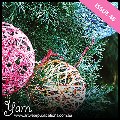 "Maria Layne is ""having a ball"" - a great way to use up scraps of yarn!"